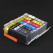 Набор совместимых картриджей для Canon PIXMA MG7140, MG6340, MG7540, iP8740 (BPI-450/451 совместимые с PGI-450, CLI-451), комплект 6 цветов
