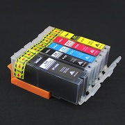 Набор совместимых картриджей для Canon PIXMA iP7240, MG5440, MG5540, MG6640, MG5640, MG6440, MX924, iX6840, (BPI-450/451 совместимые с PGI-450, CLI-451) 5 цветов с чипами