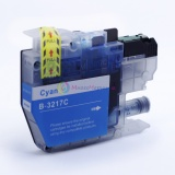 Совместимый картридж для Brother MFC-J5330DW, MFC-J5335DW, MFC-J5730DW, MFC-J5930DW, MFC-J6530DW, MFC-J6930DW, MFC-J6935DW (LC3217C), голубой Cyan, неоригинальный, одноразовый
