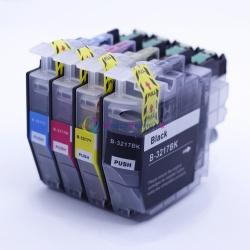 Картриджи для Brother MFC-J895DW, DCP-J572DW, MFC-J497DW, MFC-J491DW, DCP-J774DW, DCP-J772DW, MFC-J890DW (замена LC3211 / LC3213), одноразовые, совместимые, комплект 4 цвета