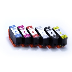 Картриджи для Epson Expression Photo HD XP-15000 (T3781-T3784 / T3791-T3794, T04F5-T04F6), совместимые, неоригинальные, комплект 6 цветов