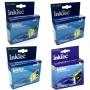 Комплект картриджей InkTec для Epson Stylus Photo R240, RX520, RX420, R430, RX425, RX530, R245, R250 (T0551-T0554), 4 штуки, неоригинальные