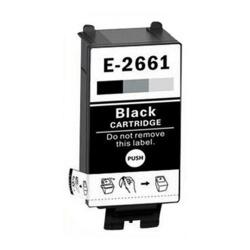 Чёрный картридж для Epson WorkForce WF-100W (совм. T2661 Black), совместимый, одноразовый