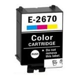 Цветной картридж для Epson WorkForce WF-100W, WF-110W (совм. T2670 Colour), совместимый, одноразовый