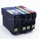 Совместимые картриджи для Epson WorkForce Pro WF-3720DWF, WF-3725DWF (34XL под регион Европа), неоригинальные, комплект 4 цвета