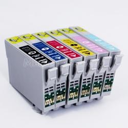 Комплект картриджей для Epson Stylus Photo P50, PX720WD, PX820FWD, RX585, PX650, PX660, PX700W, R285, RX560, R360, R265, RX685, PX710W, PX800FW, PX810FW 6 шт, совместимые (неоригинальные)