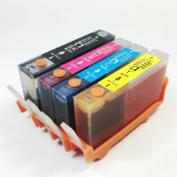 Картриджи 655 для HP Deskjet Ink Advantage 3525, 6525, 4625, 5525, 4615, совместимые, комплект 4 штуки