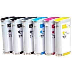 Картриджи для HP DesignJet T790, T795, T610, T770, T2300, T1200, T1300, T1100, T1120, T620 (совм. HP 72), совместимые, неоригинальные, комплект 6 цветов