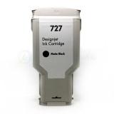 Картридж для HP DesignJet T920, T2530, T2500, T930, T1500, T1530 (совм. HP 727 C1Q12A), совместимый, неоригинальный, матовый чёрный Matte Black пигмент, 300 мл