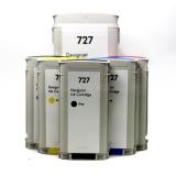 Картриджи для HP DesignJet T920, T2530, T2500, T930, T1500, T1530 (совм. HP 727), совместимые, неоригинальные, комплект 6 цветов
