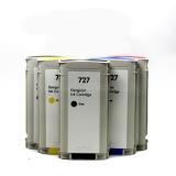 Картриджи для HP DesignJet T920, T2530, T2500, T930, T1500, T1530 (совм. HP 727), совместимые, неоригинальные, комплект 6 цветов по 130 мл
