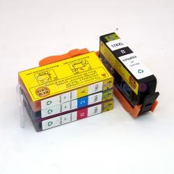 Картриджи для HP DeskJet 3070a, HP Photosmart 5510, B110, 7510, B110b, 6510, B010b, B210b, 5515, B109, B109c, B209a, 5520, B209b, B110a, C5380, совместимые, комплект 4 цвета