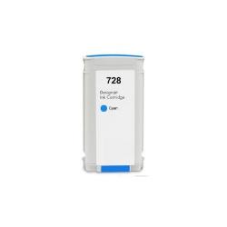 Картридж для HP DesignJet T730, T830 (совместимость по 728 F9J67A), неоригинальный, голубой Cyan