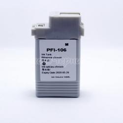 Картридж для Canon imagePROGRAF iPF6400, iPF6400S, iPF6400SE, iPF6450, iPF6350, iPF6300S, iPF6300 (PFI-106M), совместимый, неоригинальный, пурпурный Magenta, 130 мл