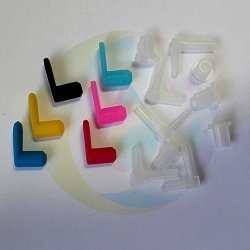 Комплектующие для СНПЧ (угловые штуцеры 6, кольцевые уплотнители 6, заглушки 6)