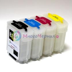 Перезаправляемые картриджи (ПЗК) для HP Designjet 510, 500 (plus), 800, 500PS, 800PS, 815, 820, (картриджи HP 10, 82), БЕЗ ЧИПОВ