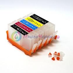 Перезаправляемые картриджи (ПЗК) для HP Photosmart 7510, C5383, D5463, C5380, C310b, C6383, D5460, C410c, C6380, D7560, C309g, C6375, B8550, C309h, C6324, C310a, C309c, C5324 HP178, 5 цветов, с чипами