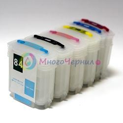 Перезаправляемые картриджи (ПЗК/ДЗК) для HP Designjet 120, 120NR, 10, 20, 50 (заправляемые картриджи HP 84, 82, 11)