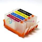 Перезаправляемые картриджи (ПЗК) для OfficeJet 7000, 6000, 7500a, 6500, 6500a, HP DeskJet 3070a, 3070, HP Photosmart 5510, B110, B110b, 6510, B010b, B210b, 5515, B109, B109c, B209a, 5520, B209b, B110a HP 178, 920, 364 картриджах, 4 шт, без чипов