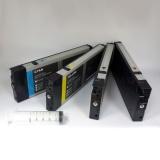 Перезаправляемые картриджи (ПЗК/ДЗК) для Epson Stylus Pro 4400, с пакетом, с чипами и ресеттером, 4 цвета x 220 мл