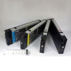 Перезаправляемые картриджи (ПЗК/ДЗК) для Epson Stylus Pro 4450, с пакетом, с чипами и ресеттером, 4 цвета x 220 мл