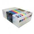 Перезаправляемые картриджи (ПЗК/ДЗК) для Epson Stylus Pro 4880,  300 мл., с чипами (требуют отключения слежения), прозрачные, комплект 8 цветов