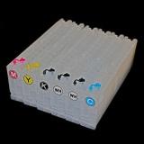 Перезаправляемые картриджи (ПЗК/ДЗК) для Epson SureColor SC-F2000, SC-F2100 (5-цветные модели), с чипами, комплект 5 цветов 6 картриджей