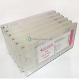 Набор перезаправляемых картриджей (ДЗК/ПЗК) для Epson Stylus Pro 10600 + чернила InkTec 6 литров + ресеттер, 6 цветов