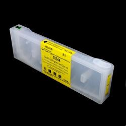 Перезаправляемый картридж (ПЗК/ДЗК) для Epson SureColor SC-P6000, SC-P7000, SC-P8000, SC-P9000, SC-P7000V, SC-P9000V + модели Spectro (T8244 / T8044 / C13T824400 / C13T804400), жёлтый Yellow, с чипом, 700 мл