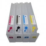 Перезаправляемые (дозаправляемые) картриджи (ПЗК/ДЗК) для Epson SureColor SC-S30610, SC-S50610 (T6881-T6884), с одноразовыми чипами, 700 мл, 4 цвета