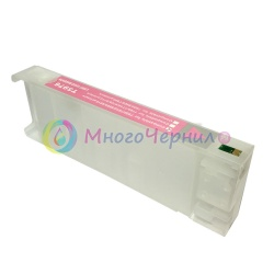 Перезаправляемый картридж (ПЗК/ДЗК) для Epson SureColor SC-P6000, SC-P7000, SC-P8000, SC-P9000, SC-P7000V, SC-P9000V + модели Spectro (T8246 / T8046 / C13T824600 / C13T804600), светло-пурпурный Vivid Light Magenta, с чипом, 700 мл