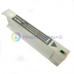 Перезаправляемый картридж (ПЗК/ДЗК) для Epson SureColor SC-P6000, SC-P7000, SC-P8000, SC-P9000, SC-P7000V, SC-P9000V + модели Spectro (T8247 / T8047 / C13T824700 / C13T804700), серый Light Black, с чипом, 700 мл
