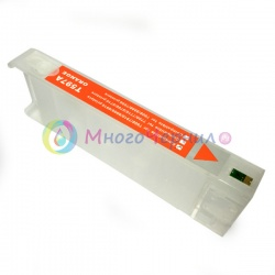 Перезаправляемый картридж (ПЗК) для Epson Stylus Pro 7700, 9700, 7890, 9890, 7900, 9900, Orange, с пакетом, с чипом, 700 мл