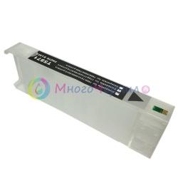 Перезаправляемый картридж (ПЗК/ДЗК) для Epson SureColor SC-P6000, SC-P7000, SC-P8000, SC-P9000, SC-P7000V, SC-P9000V + модели Spectro (T8248 / T8048 / C13T824800 / C13T804800), чёрный Matte Black, с чипом, 700 мл