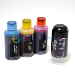 Комплект чернил InkTec H1061 для HP DeskJet 2050, 1000, 1050, 1050a, 3050, 3050a, 2000, 3000, J110A  (HP 122, 650, 122XL), 1 x 20 (черный цвет) 3 х 25 мл (цветные чернила), пигментные и водорастворимые