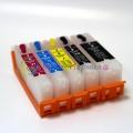 Перезаправляемые картриджи (ПЗК) для Canon PIXMA MG6840, MG5740, TS5040, TS6040 (картриджи PGI-470, CLI-471), комплект 5 цветов, с авто-чипами, с уплотнительными кольцами, с пробками на воздушных отверстиях