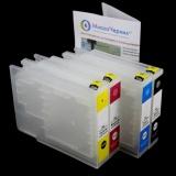 Перезаправляемые картриджи (ПЗК) для Epson WorkForce Pro WF-C8190DW, WF-C8690DWF (под ориг. T04A1-T04A4 / T04B1-T04B4 / T04C1-T04C4), с одноразовыми чипами, комплект 4 цвета