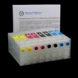 Перезаправляемые картриджи (ПЗК / ДЗК) для Epson ColorWorks TM-C3500, без чипов, 4 шт