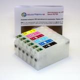 Перезаправляемые картриджи (ПЗК) для МФУ Epson Stylus Photo RX700 (T5591, T5592, T5593, T5594, T5595, T5596), 6 цветов, с авто-чипами