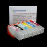 Перезаправляемые картриджи (ПЗК) для Epson Expression Photo XP-55, XP-960, XP-970, XP-860, XP-750, XP-760, XP-950, XP-850, 6 цветов с чипами (под оригиналы T24, Европа)