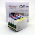 Перезаправляемые картриджи (ПЗК) для Epson Stylus SX130, SX125, S22, SX230, SX23..