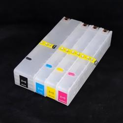 Перезаправляемые картриджи (ПЗК) для HP OfficeJet PRO x451dw, x576dw, x476dw, x551dw, x476dn, x451dn (под оригиналы 970/971) с чипами, черный картридж - 205 мл
