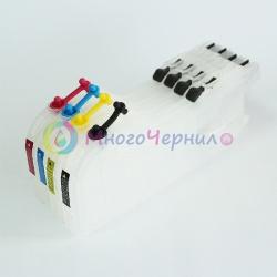 Перезаправляемые картриджи (ПЗК) для Brother DCP-J100, DCP-J105, MFC-J200 (LC529/LC525), Long (длинные) набор 4 шт.