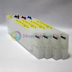 Набор перезаправляемых картриджей (ПЗК) с литровыми чернилами для Epson B-510DN (B510), B-310N (B310), B-300, B-500DN (совм. T6161-T6164/T6171-T6174), авто обнуляемые, 4 х 1 литр