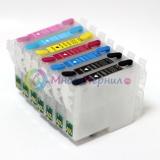 Перезаправляемые картриджи (ПЗК/ДЗК) для Epson Stylus Photo 950 (T0331-T0336) с чипами, 7 цветов