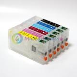 Набор перезаправляемых картриджей с чернилами для Epson Stylus Photo RX700 (ПЗК аналог T5591, T5592, T5593, T5594, T5595, T5596 / авто-чипы), с InkTec водными 6 по 100 мл