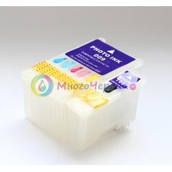 Перезаправляемые картриджи (ПЗК) для Epson Stylus Photo 900, 1270, 1280, 1290, с чипами, 2 шт (T007/T009)