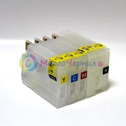 Перезаправляемые картриджи (ПЗК) для HP Designjet DJ T520 и T120 (под картриджи HP 711), с чипами, с насадкой для прокачки картриджей