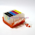 Перезаправляемые картриджи (ПЗК) для Canon PIXMA MP520, MP510, iP3500, iP3300, iX4000, MX700, iX5000 c чипами, 4 шт