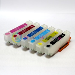 Перезаправляемые картриджи (ПЗК) для Epson Expression Photo XP-850, XP-860, XP-950, 6 цветов с чипами (под оригиналы T277, США)